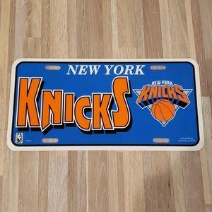 Vintage New York Knicks License Plate